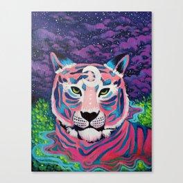 Moon River Tiger Canvas Print