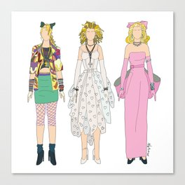 Triple Madge Material Girl Canvas Print