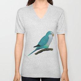Cuddly blue quaker parrot Unisex V-Neck