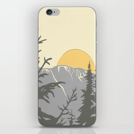 Ski Mountain Sun and Trees - Breckenridge  iPhone Skin