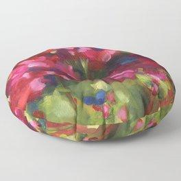 Geranium Reds Floor Pillow