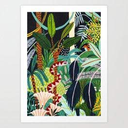 The Jungle at Midnight Art Print