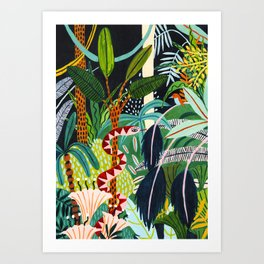 The Jungle at Midnight Art Print
