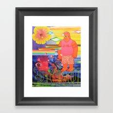 Locals Only Framed Art Print