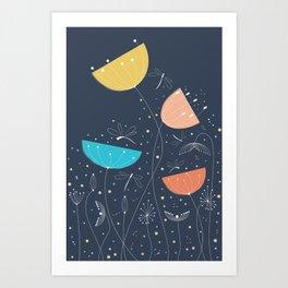Midnight romance Art Print