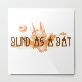 Witchy Puns - Blind As A Bat Metal Print