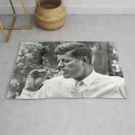 John F Kennedy Smoking Marijuana Rug