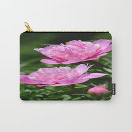 Pink Peony Pair Flower Photography - Bring the Outdoors In Carry-All Pouch