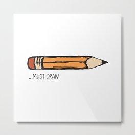 Yellow Pencil Metal Print