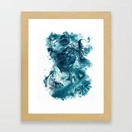 emerging undewater form life Framed Art Print