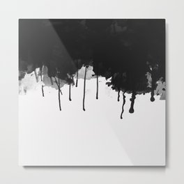 Spilled Ink Metal Print