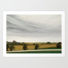 Corn Fields Art Print