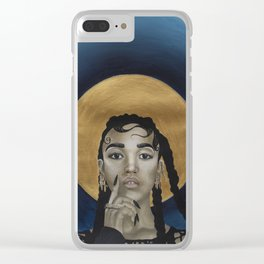 FKA Twigs - Godly in Gold Clear iPhone Case