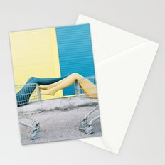 Blue yellow legs Stationery Cards
