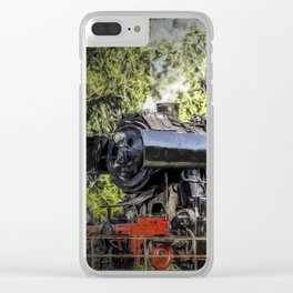 steam train Clear iPhone Case