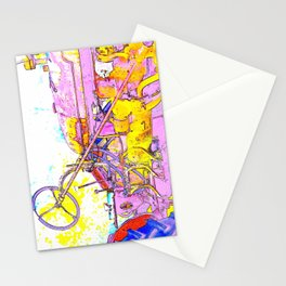 Antique Girly Tractor Stationery Cards