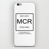 my chemical romance iPhone & iPod Skins featuring My Chemical Romace Element by Merch Pug