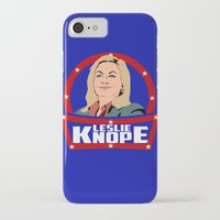 leslie knope iPhone & iPod Cases featuring Leslie Knope by SuperEdu