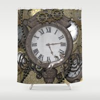 steampunk Shower Curtains featuring Steampunk  by nicky2342