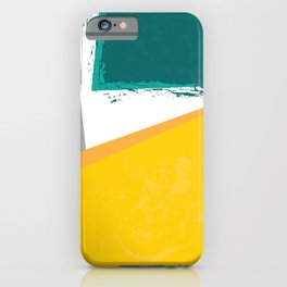 Bold yellow green shapes iPhone Case