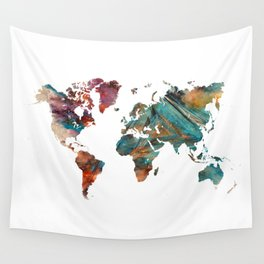 Map of the World triangle Wall Tapestry
