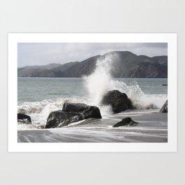 Splashed Art Print