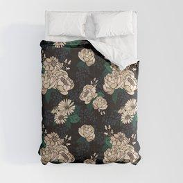 Moody Florals  - Cream Comforters