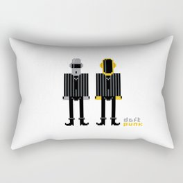 Pixel Daft Punk Rectangular Pillow