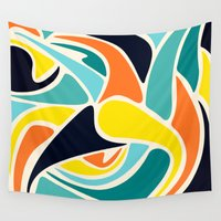 wind Wall Tapestries featuring Wind by Josh Franke