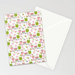 Whimsy Owls Stationery Cards