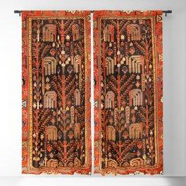 Floral Persian Bakhtiari Rug Print Blackout Curtain