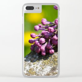 Lilac close up Clear iPhone Case
