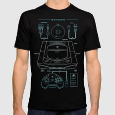 Saturn Black MEDIUM Mens Fitted Tee