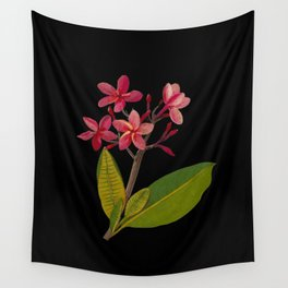 Plumeria Rubra Mary Delany Floral Paper Collage Delicate Vintage Flowers Wall Tapestry