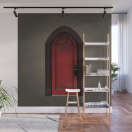 Red door in The Haunting of House Wall Mural