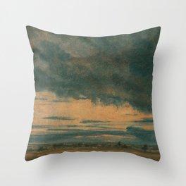 John Constable - Cloud Study Throw Pillow