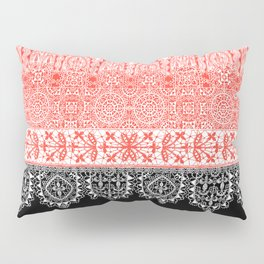 crochet lace in red Pillow Sham