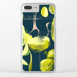 Lemon and lime Clear iPhone Case