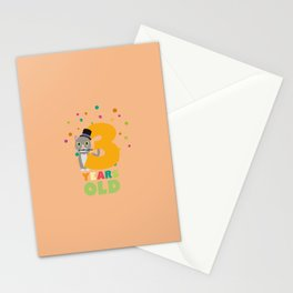 Three Years third Birthday Party Cat Ddd8s Stationery Cards