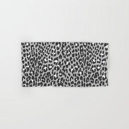 Elegant trendy black white cheetah pattern Hand & Bath Towel