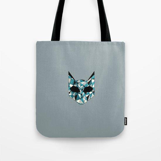 Turquoise Cat Tote Bag