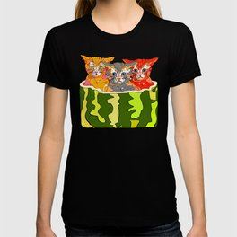 Cats in Watermelon Jacuzzi - Tropical T-shirt
