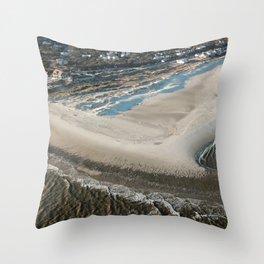 Frying Pan Shoals   South Beach & East Beach   Bald Head Island, NC Throw Pillow