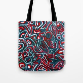 Jack Teal/Red Tote Bag