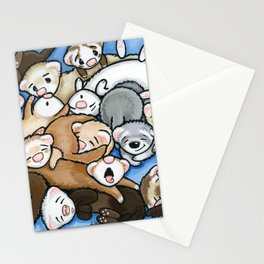 Wall to Wall Weasels Stationery Cards