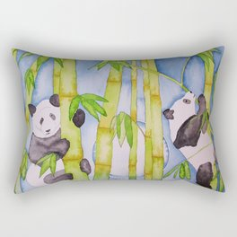 Playful Pandas by Moonlight Rectangular Pillow