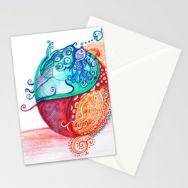 Dancing bacteria Stationery Cards