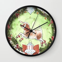 Christmas Goat Wall Clock