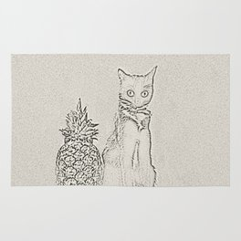 The Cat and the Pineapple Rug
