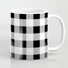 Black and White Check Coffee Mug